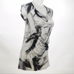 Simply Vera - Gray & Black Tie Dyed Top Size Small